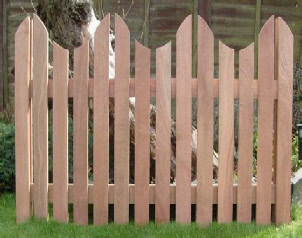Mahogany Picket Fencing Products Feuillus Fencing Limited